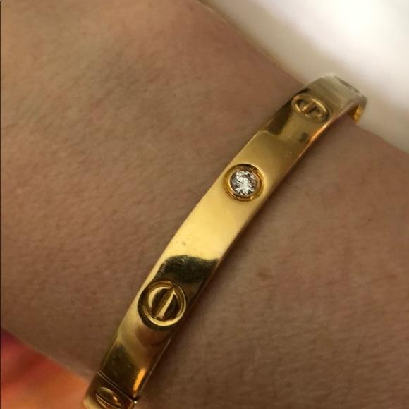 66c74f01806b20 Cartier Jewelry | Love Bracelet With Four Diamonds | Poshmark